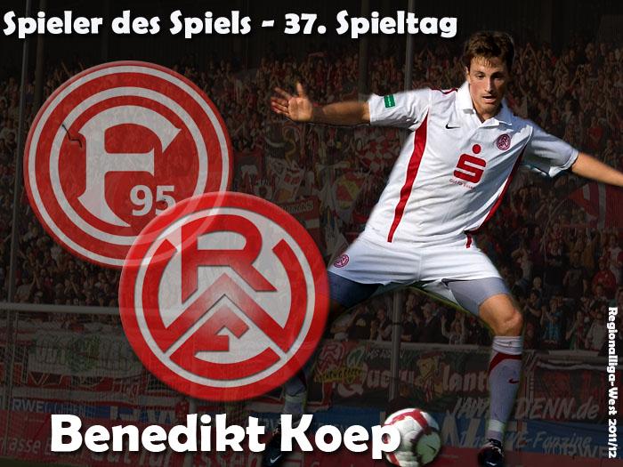 Spieler des Spiels 37. Spieltag - Benedikt Koep