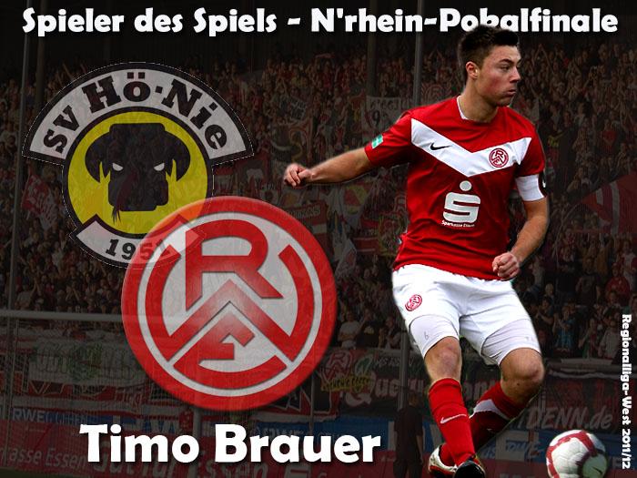 Spieler des Spiel - Niederrhein-Pokalfinale - Timo Brauer